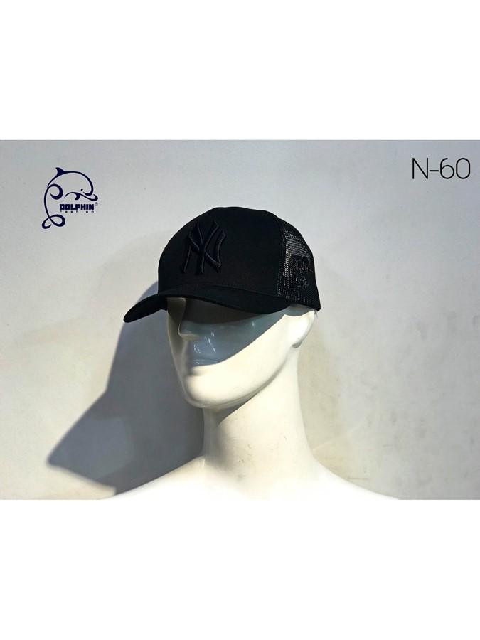 NÓN MIX MÀU FULL ĐEN 60
